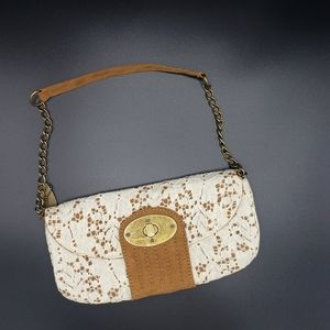 Chinese Laundry leather & lace chain strap purse
